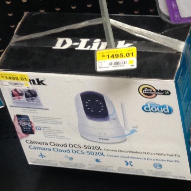 Walmart central Cd victoria cámara cloud D-link control desde smartphone