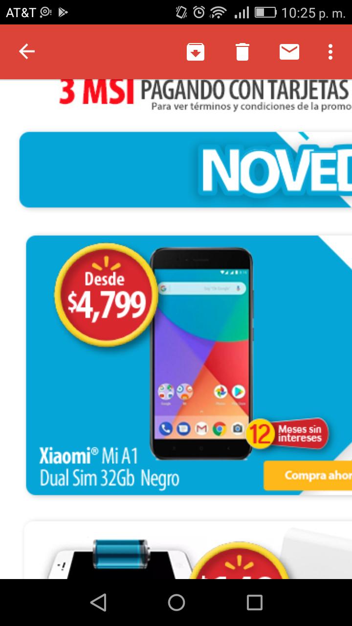 Walmart: Xiaomi Mi A1 (vendido por tercero)