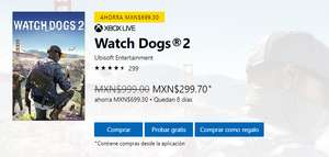 Xbox One: Watch Dogs 2 Juegos Base [$299]