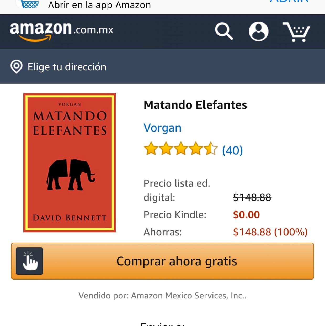 Amazon: Matando Elefantes Gratis