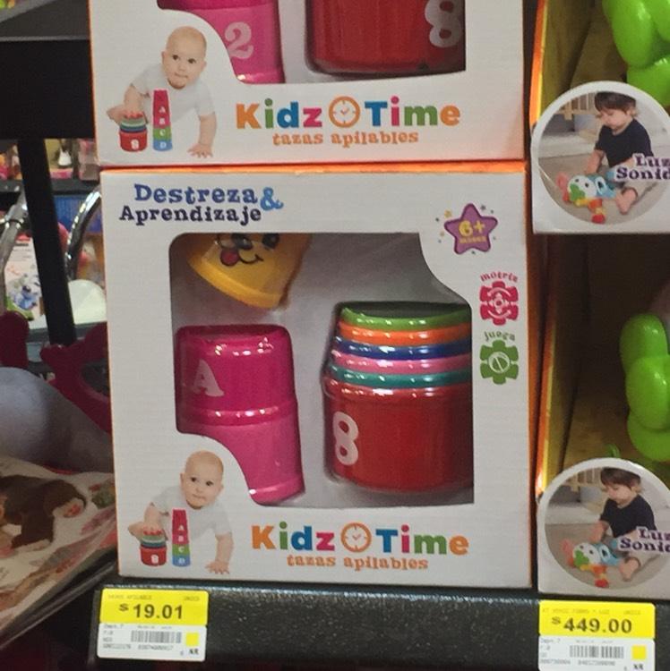 Walmart coatza:  Juguetes Kidz Time en .01