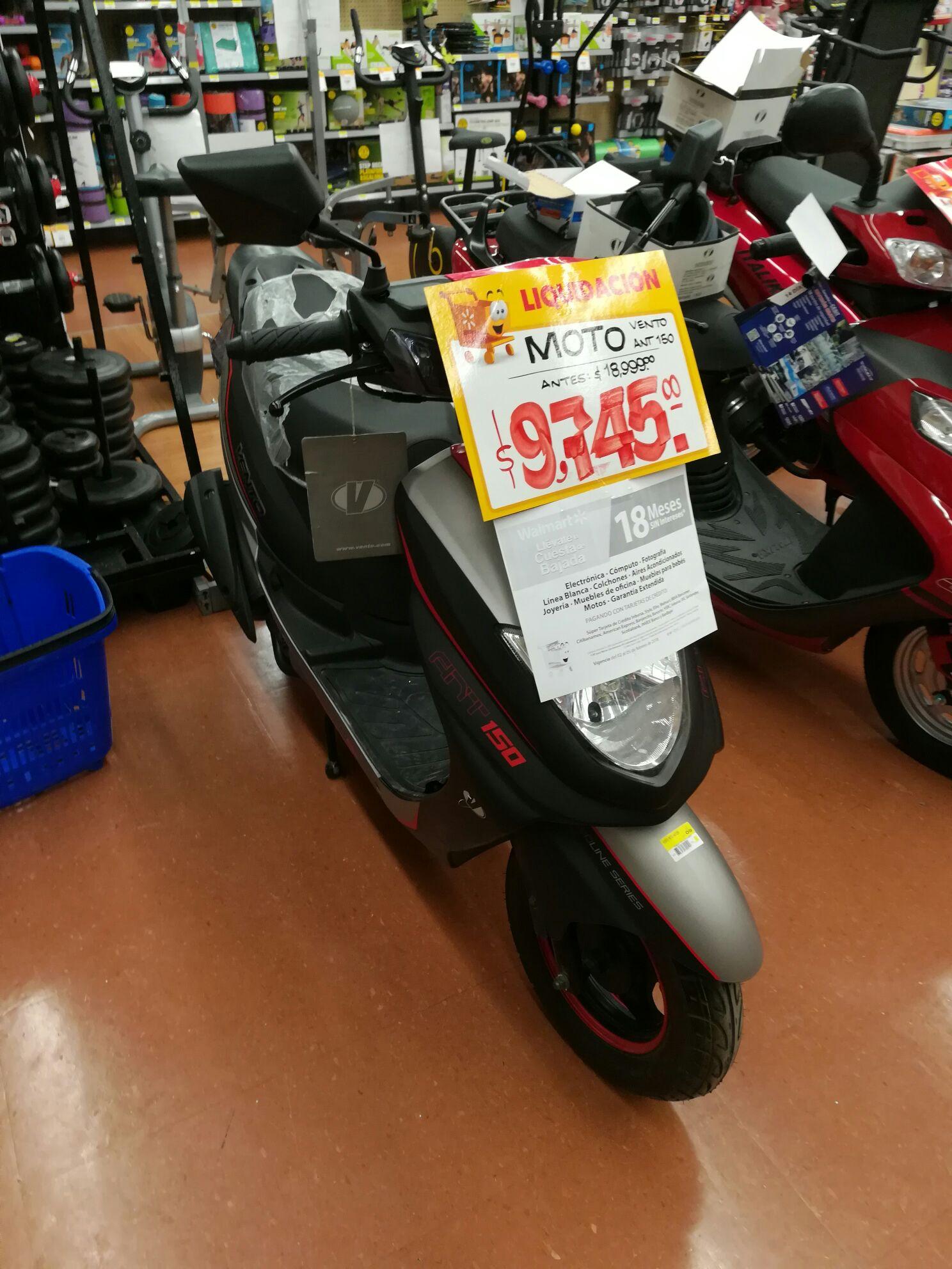 Walmart: motoneta Vento ant 150, segunda liquidación y más.