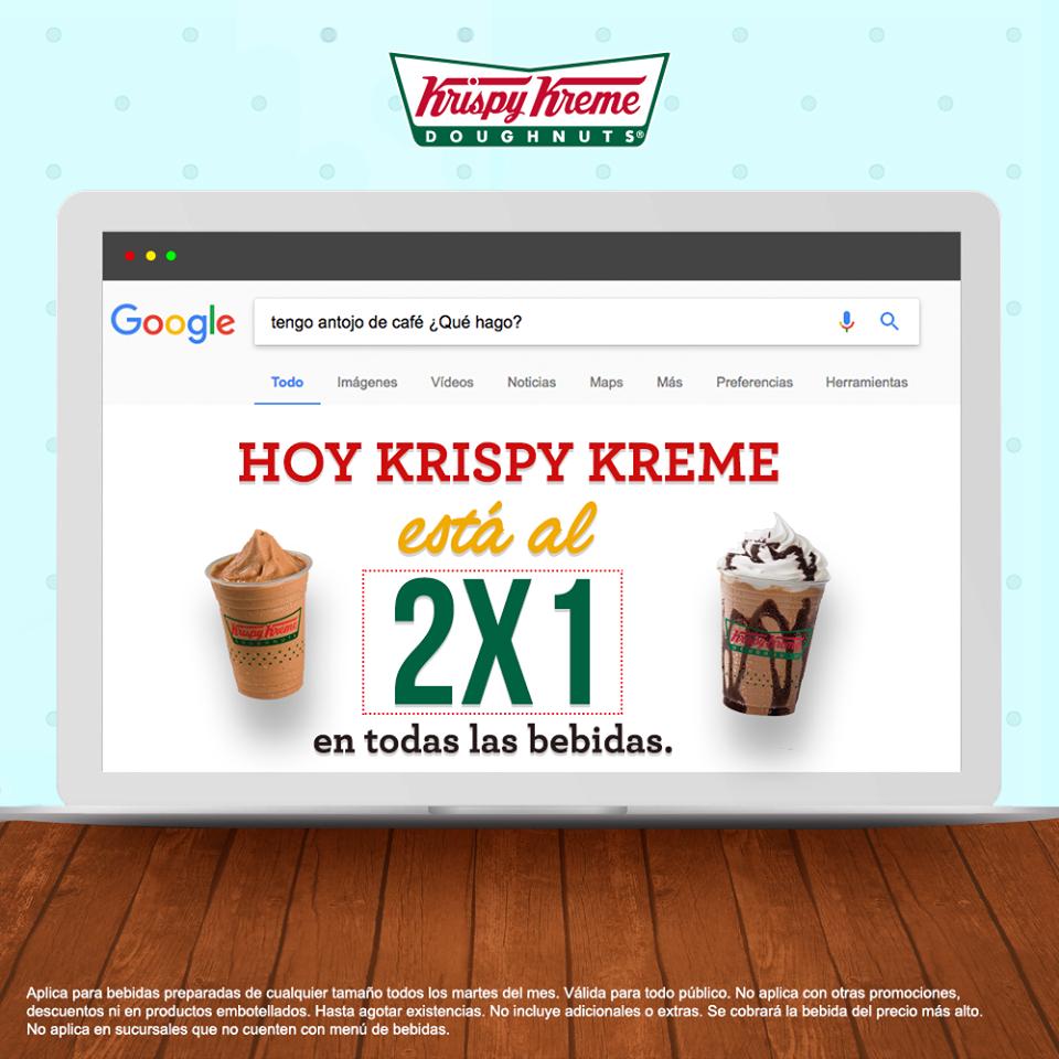 Krispy Kreme: Hoy 2x1 en Todas las bebidas