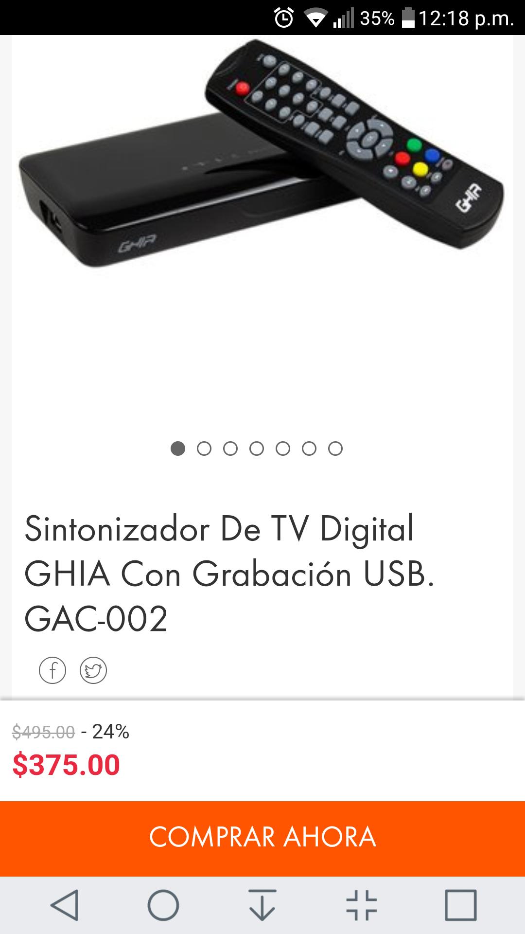 Linio: Decodificador tv hd marca Ghia