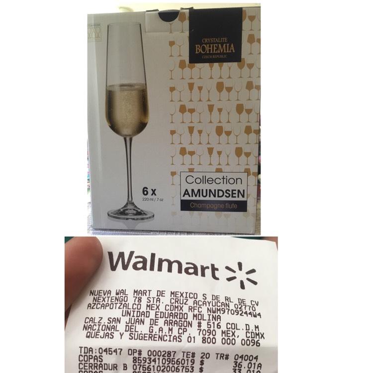 Walmart Eduardo Molina: Copas Crystalite Bohemia en 36.01