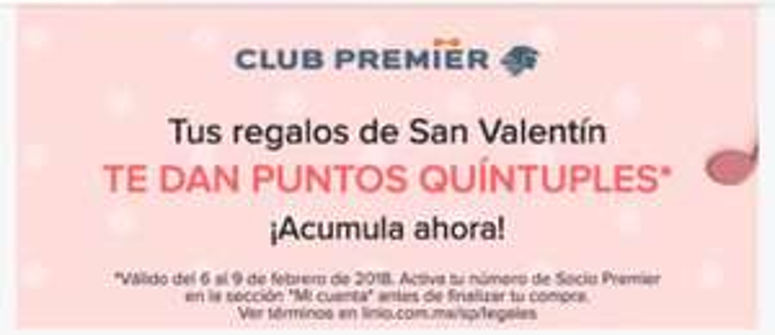 Club Premier: Puntos quíntuples de club premier en Linio