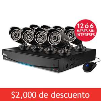 Costco: DVR Swann con 8 Camaras HD a $5,999