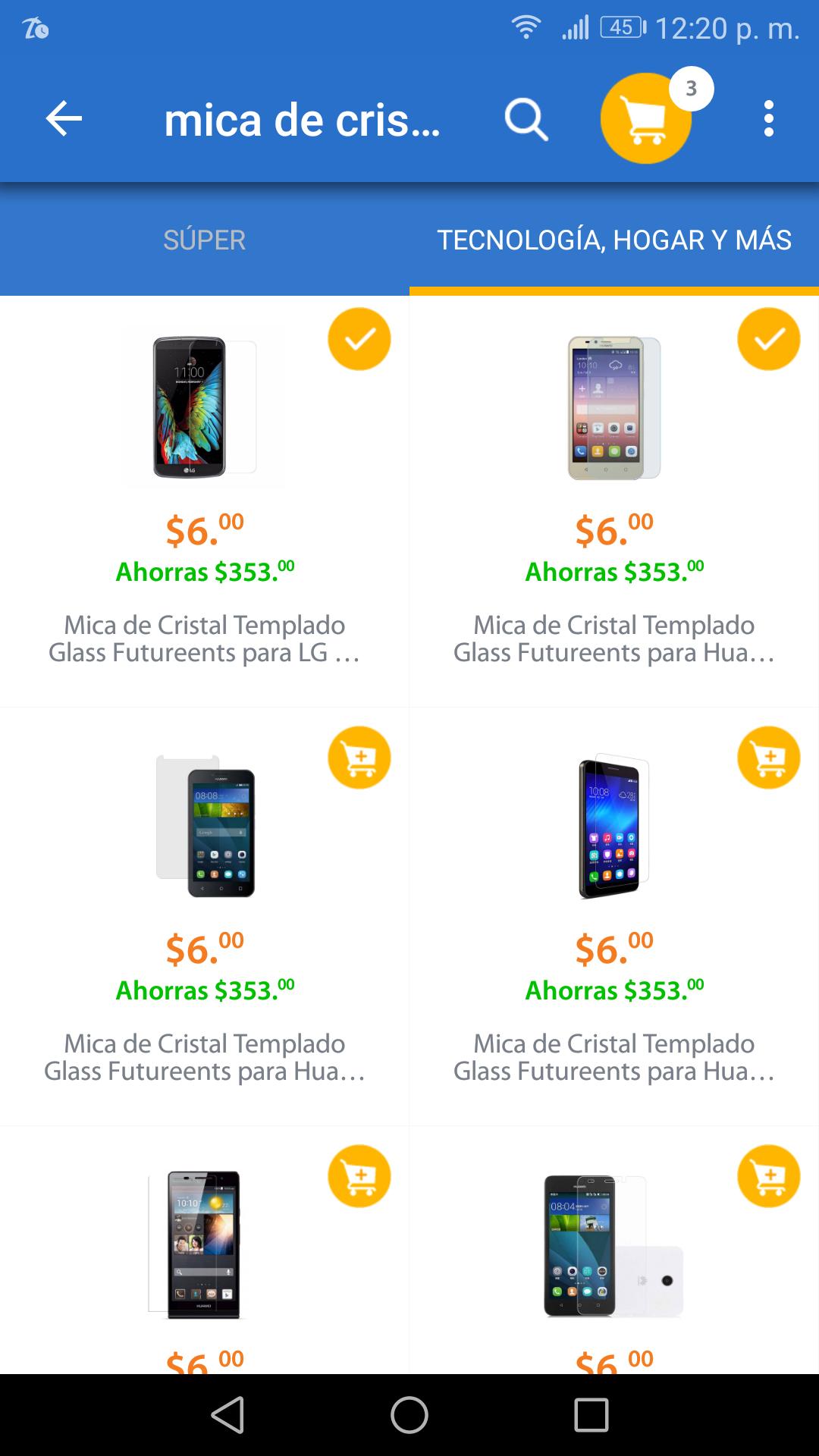 Walmart: Micas de cristal desde $6 (más envío)