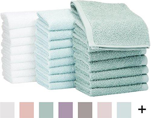 Amazon: AmazonBasics Toalla pequeña de algodón, Paquete de 24, multicolor