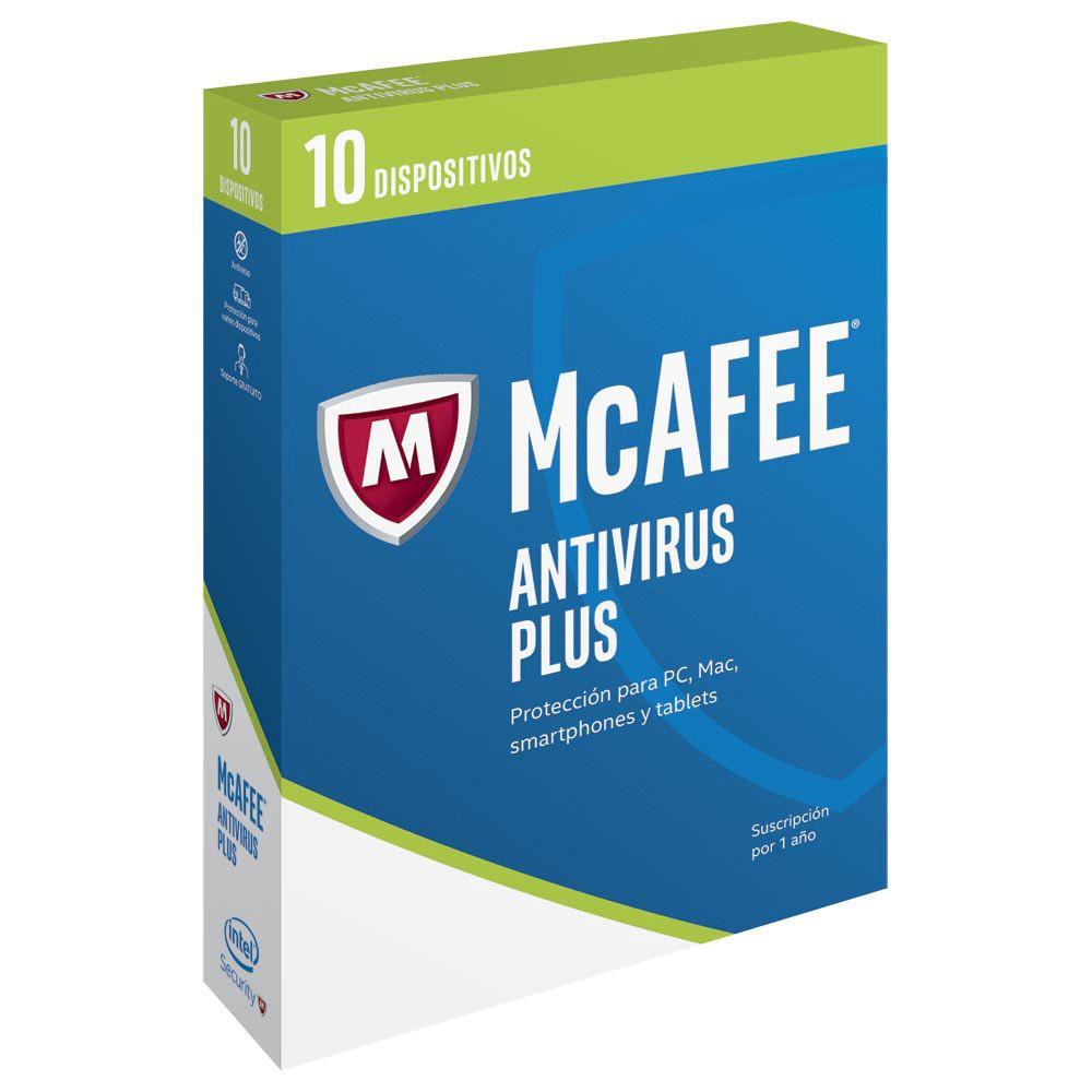 Elektra: MCAFEE Antivirus Plus 2017 1 Año 10 Dispositivos (PC, MAC, iOS, Android)