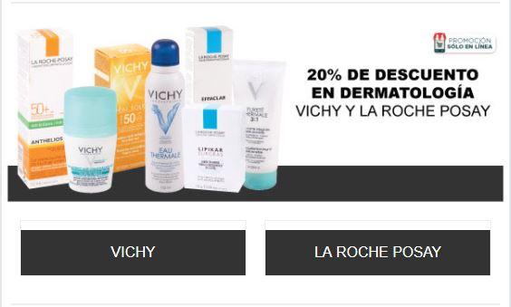 HEB: Solo hoy 20% en dermatología Vichy y La Roche Posay