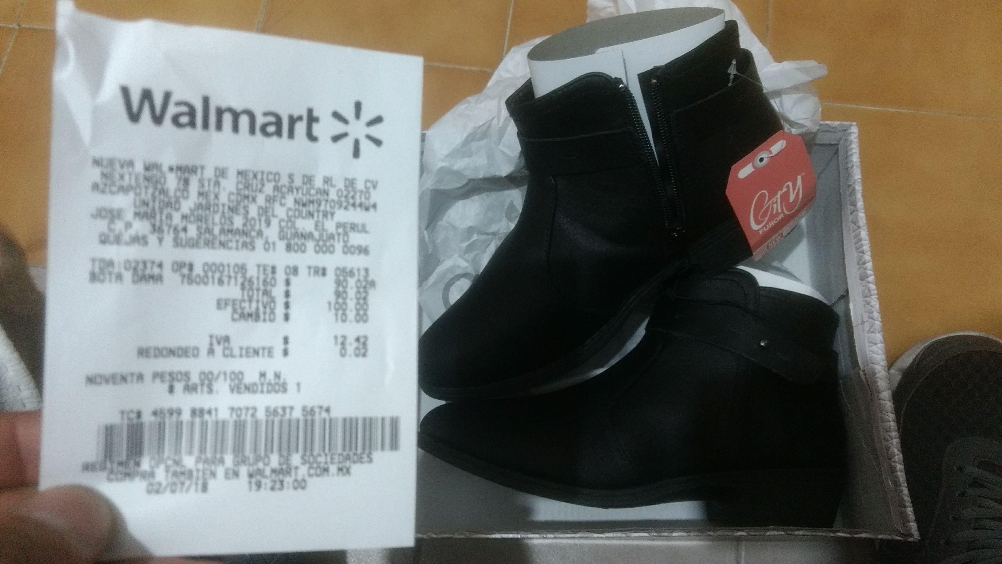 Walmart Salamanca, botines en liquidación