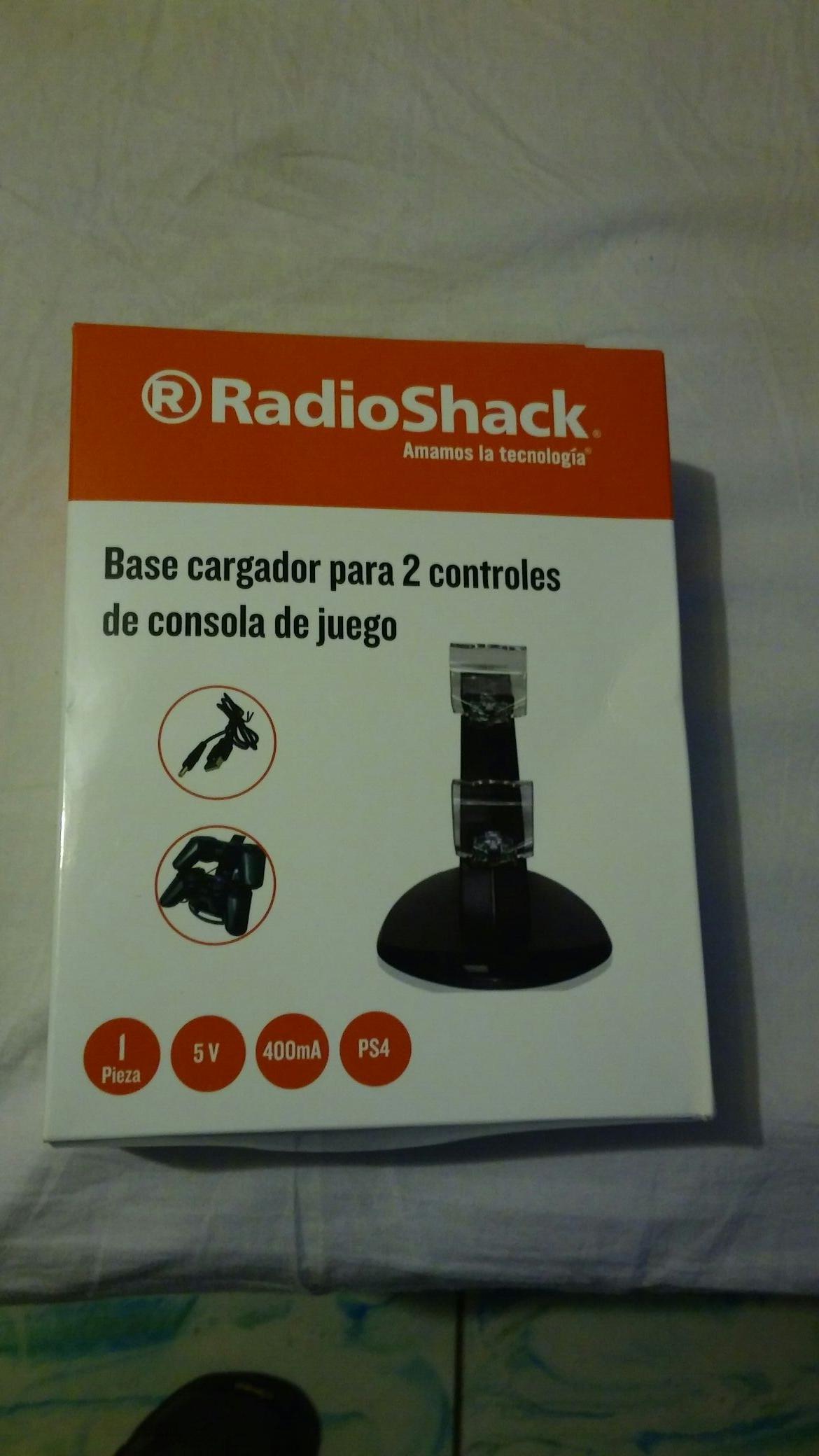 Radioshack: base cargador para 2 controles dualshock 4