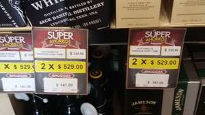 Superama: 2 botellas de whisky jack daniels por $529