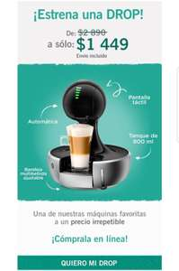 Dolce Gusto: Maquina Drop a $1,449