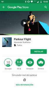 Google Play: JUEGO PARKOUR FLIGHT