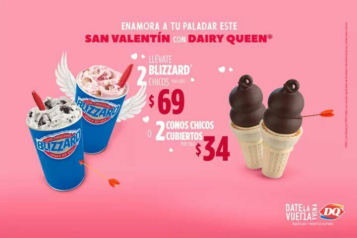 Dairy Queen: 2 Blizzards Chicos por 69 | 2 conos cubiertos por 34