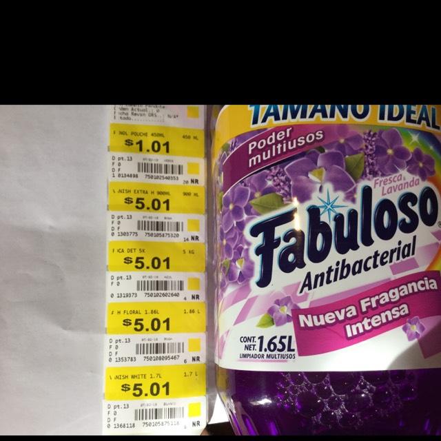 Walmart Unicornios + Etiquetas + Promonovela. Ej. Fabuloso 1.65L $1