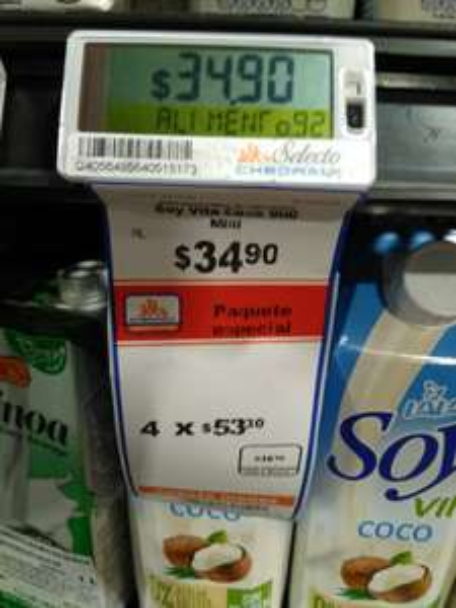 Chedraui selecto fortuna: Leche de coco Lala 4x$53.50