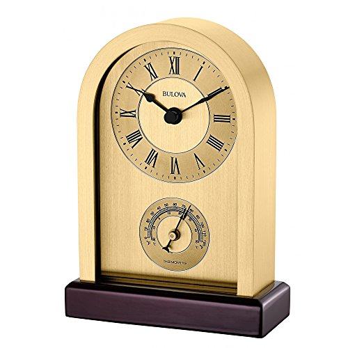 Amazon: Reloj de mesa de madera dorado Bulova