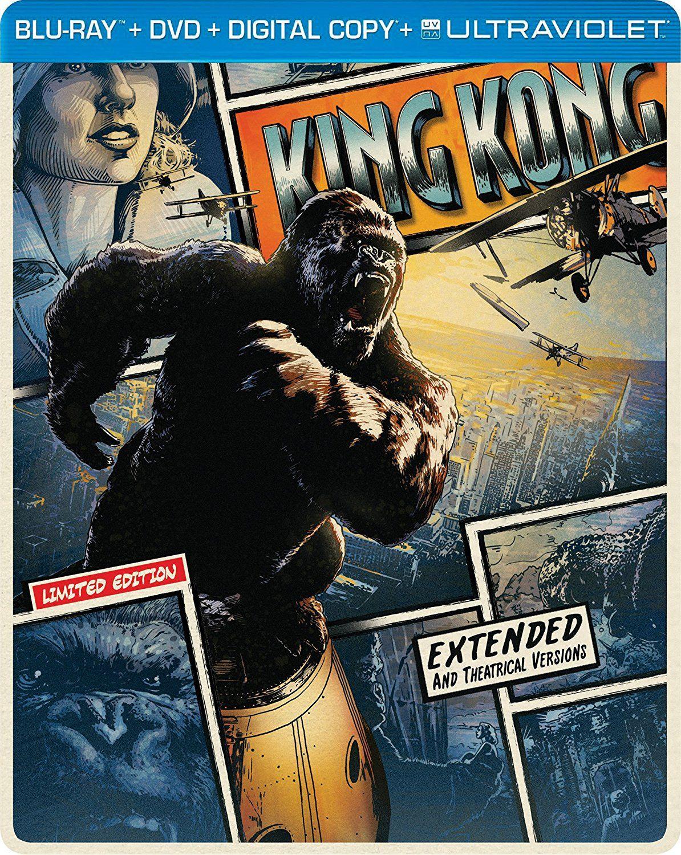 Amazon: King Kong Steelbook Importado (BD + DVD)