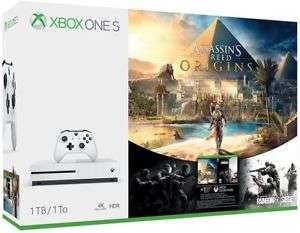 eBay: Consola Xbox One S de 1TB + Assassin's Creed Origins + Rainbow Six Siege