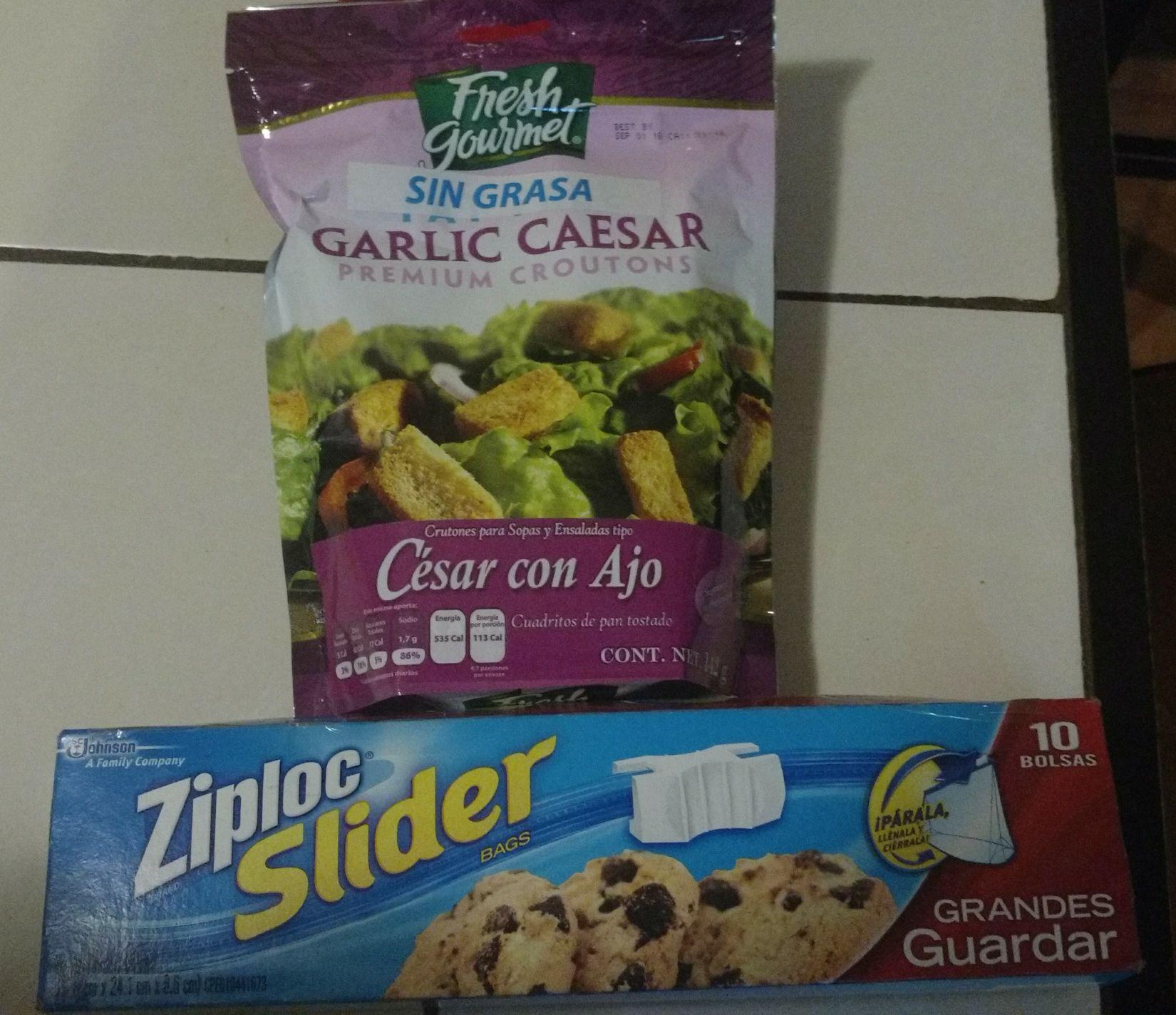 Walmart: Ziploc SGG $5.01 y crutones César con Ajo $10.02