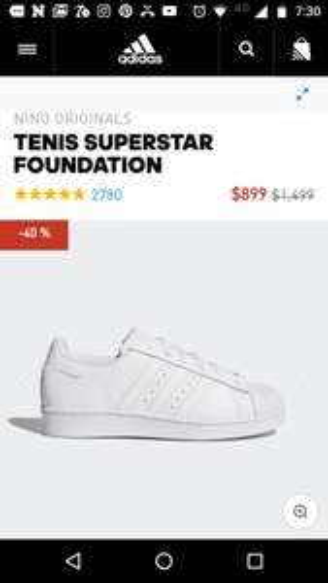 "Adidas: Tenis Adidas Superstar ""Niños"""