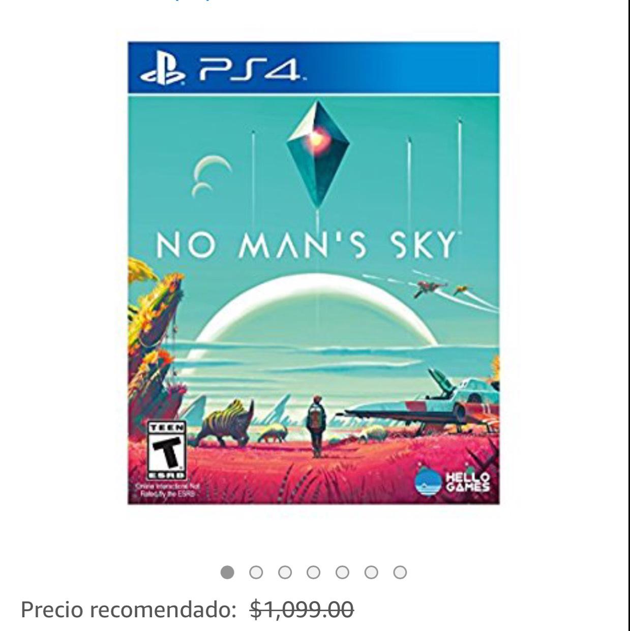 Amazon: No Mans Sky PS4 en Amazon Prime en $300