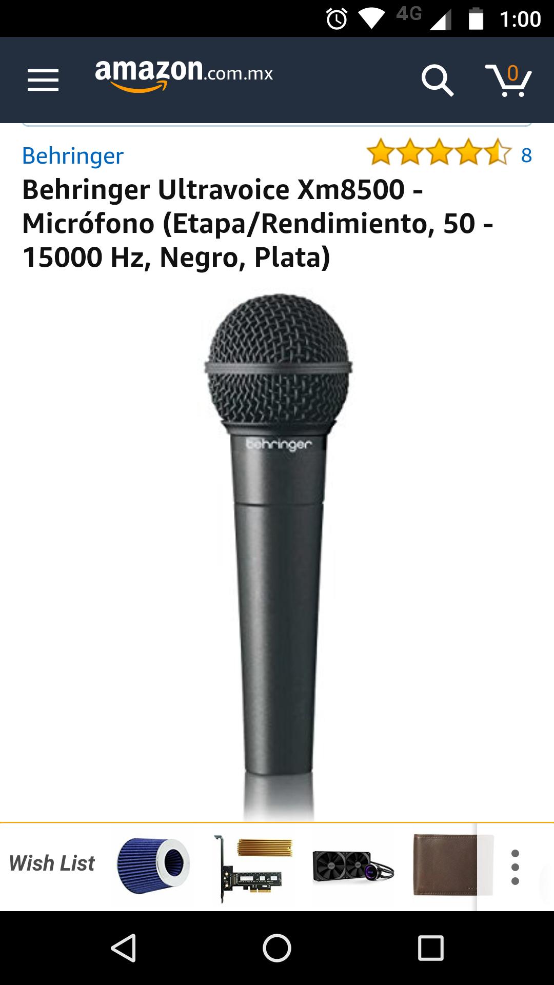 Amazon: Micrófono Behringer XM8500