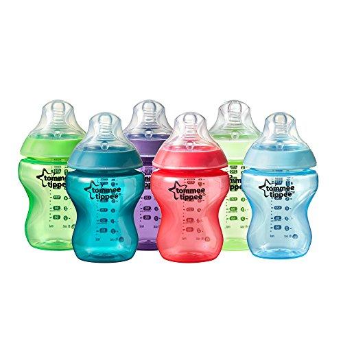 Amazon: Tommee Tippee Closer to Nature Botella fiesta, 256 ml (9oz), 6 piezas aplica PRIME