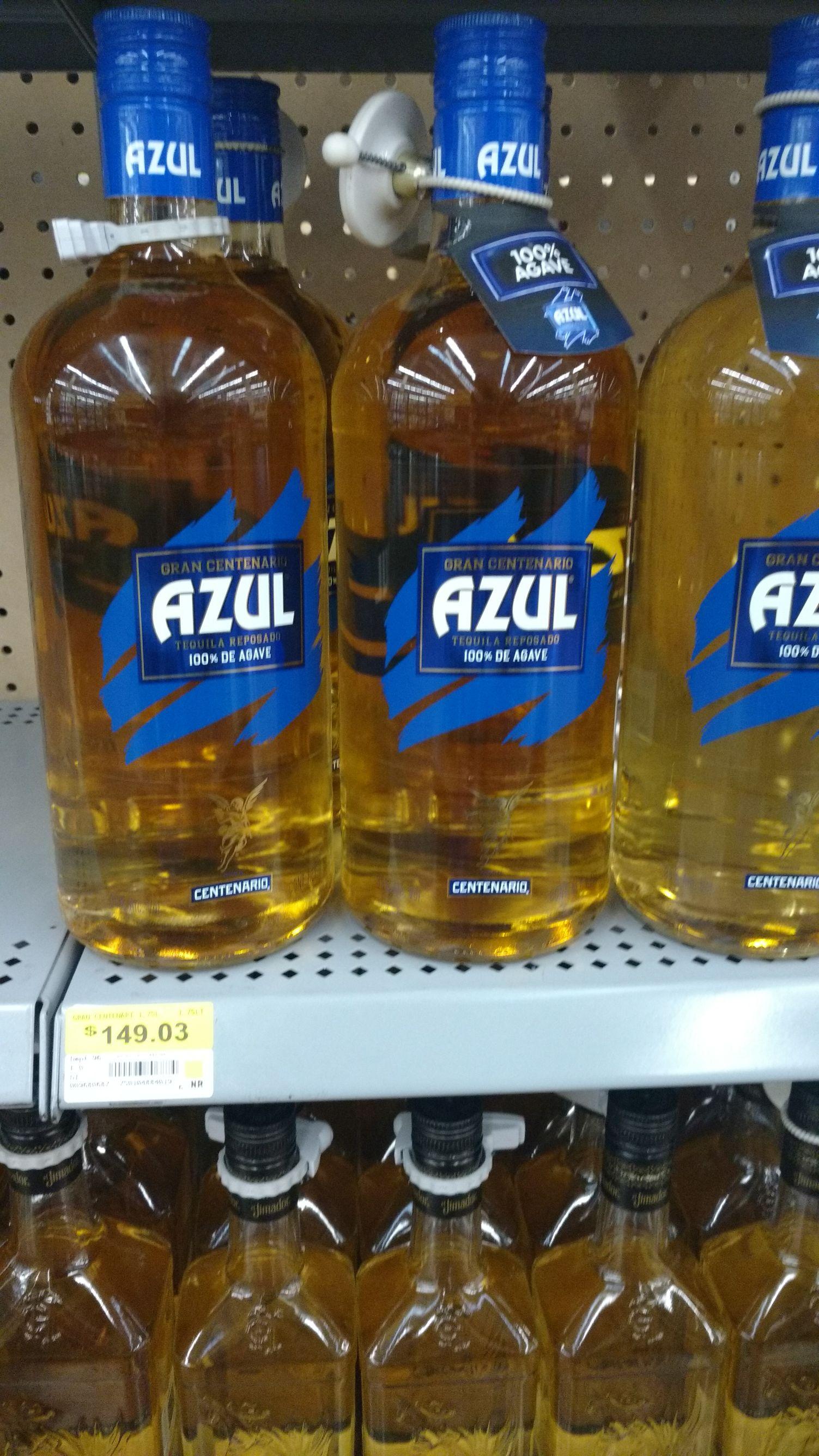 Walmart tecnológico colima: Tequila azul 1.75 lts  $149.03