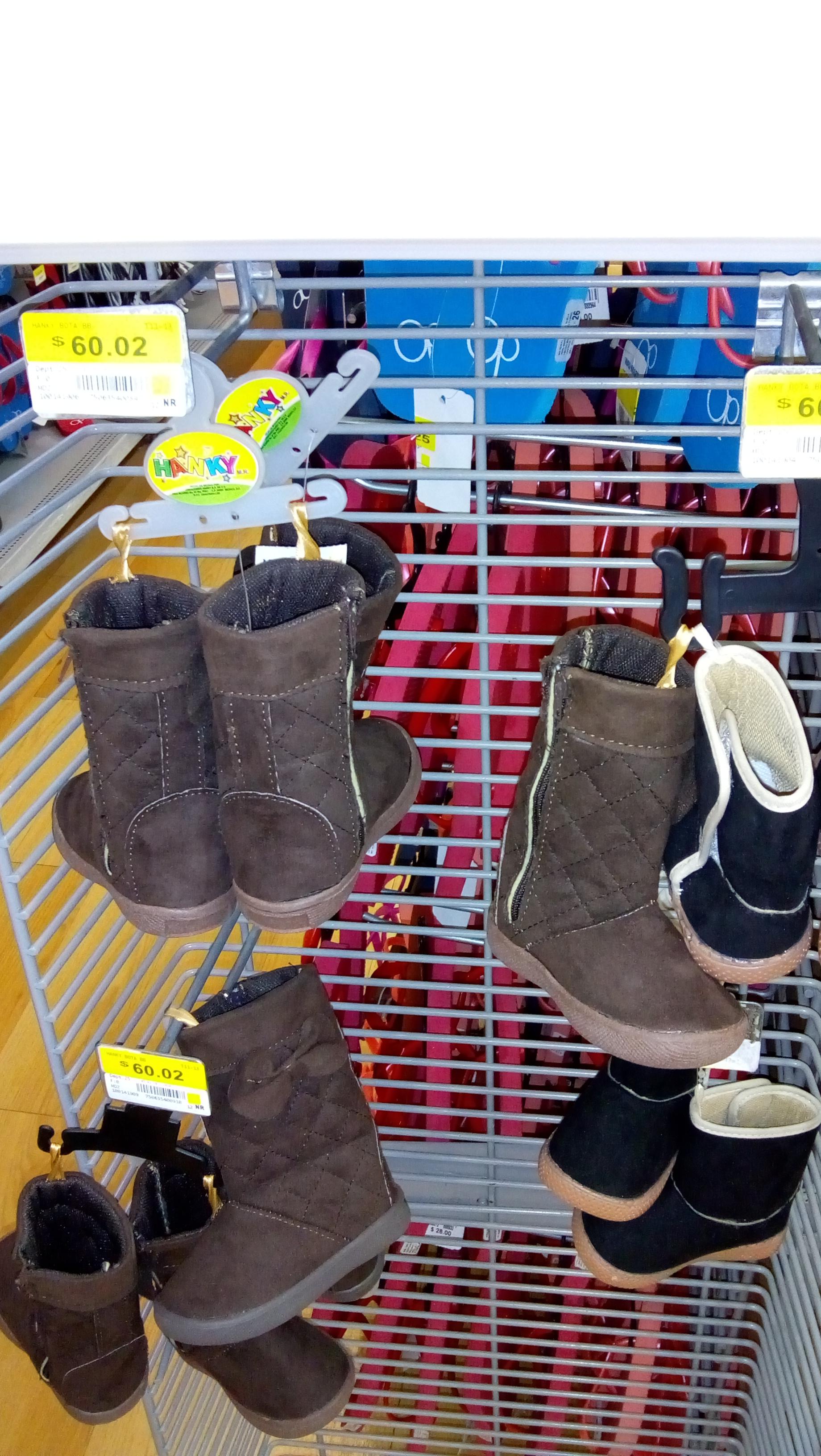 Walmart: botas para niña $60.02