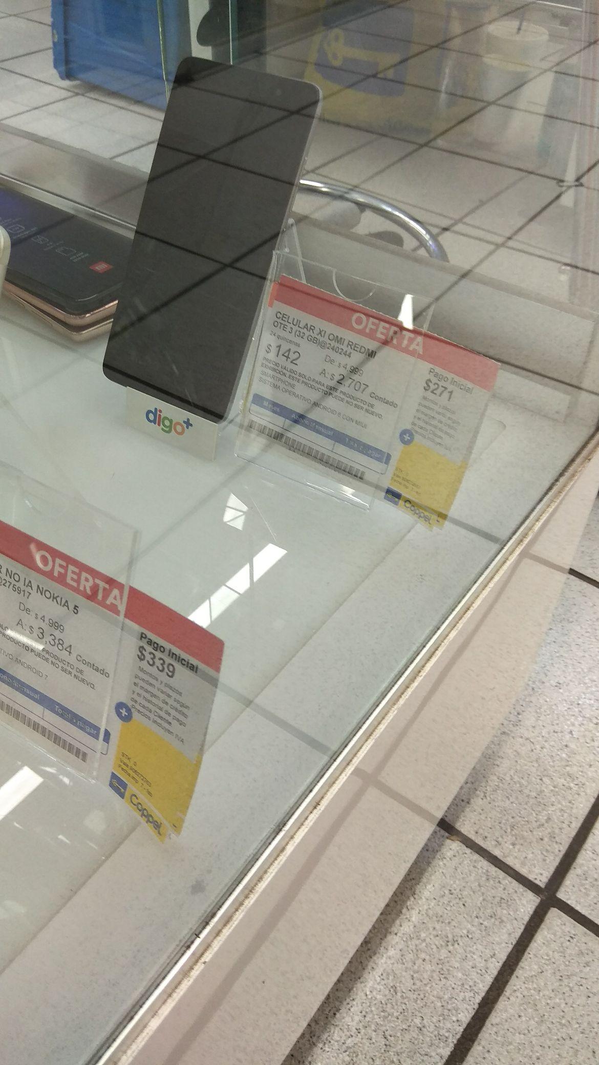 Coppel: Xiaomi Redmi note 3