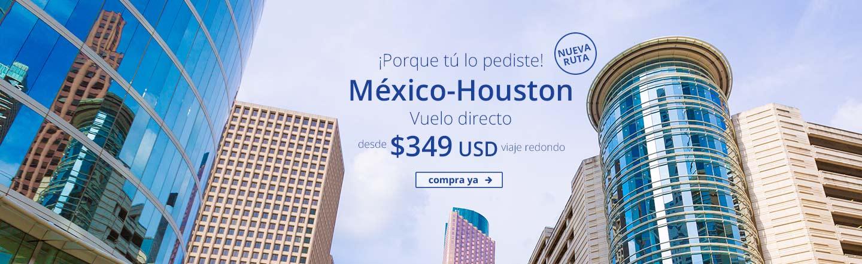 Interjet: nueva ruta DF a Houston desde $325 dólares