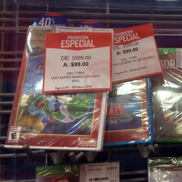 RadioShack Altabrisa Mérida: Zelda The Wind Waker WiiU / Súper Mario Galaxy 2 a solo $99 c/u