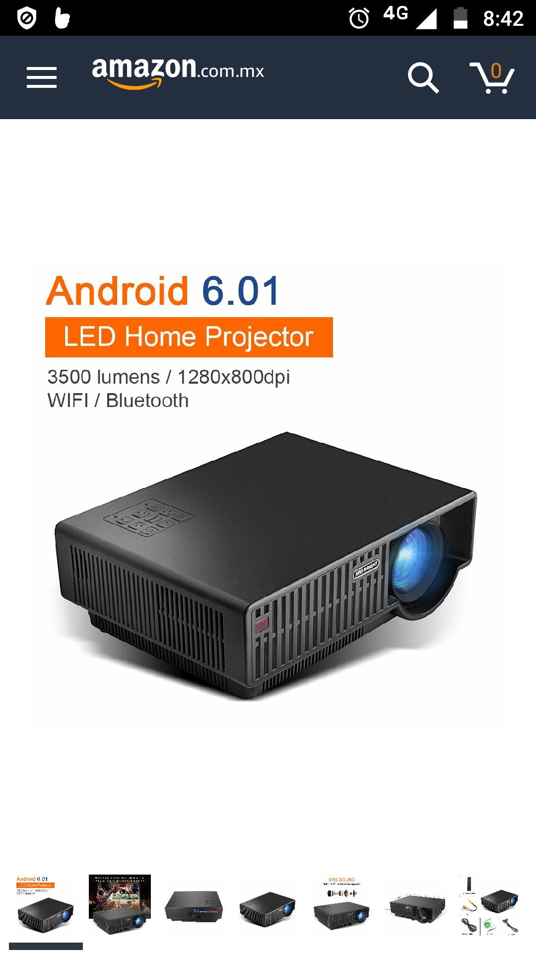 Amazon: newpal np90C Wireless WiFi Smart proyector con Andriod 6.01280P Resolución HD Proyector LED Soporte para parte frontal, trasera y proyección Modo de techo, NP90CWIFI