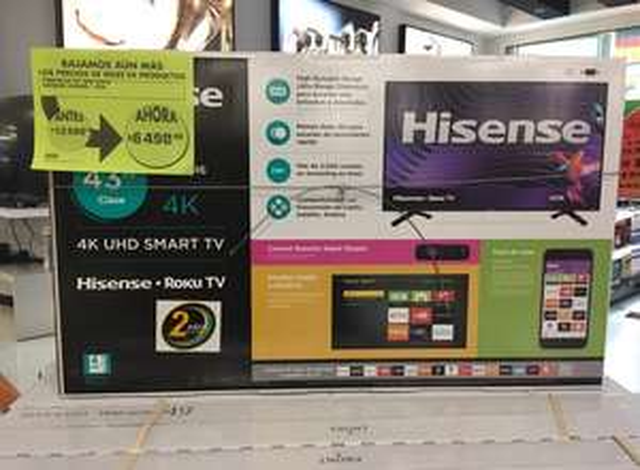 "Smart TV 4K Hisense 43"" en La Comer Uruapan"
