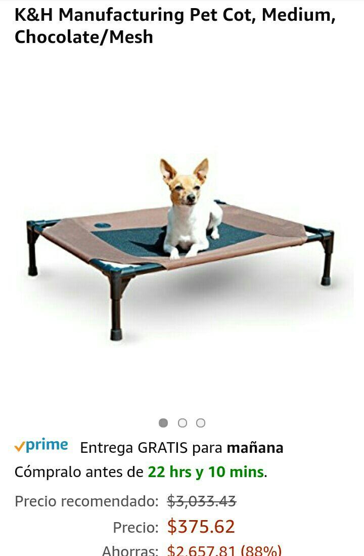 Amazon: Cama para perro de raza mediana