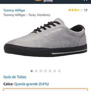 Amazon: Tenis Tommy Hilfiger grises