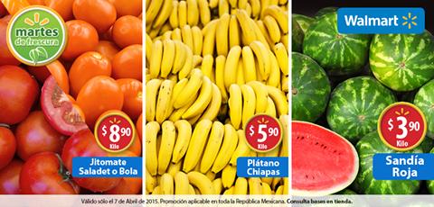 Martes de Frescura en Walmart abril 7: plátano $5.90 el kilo y más