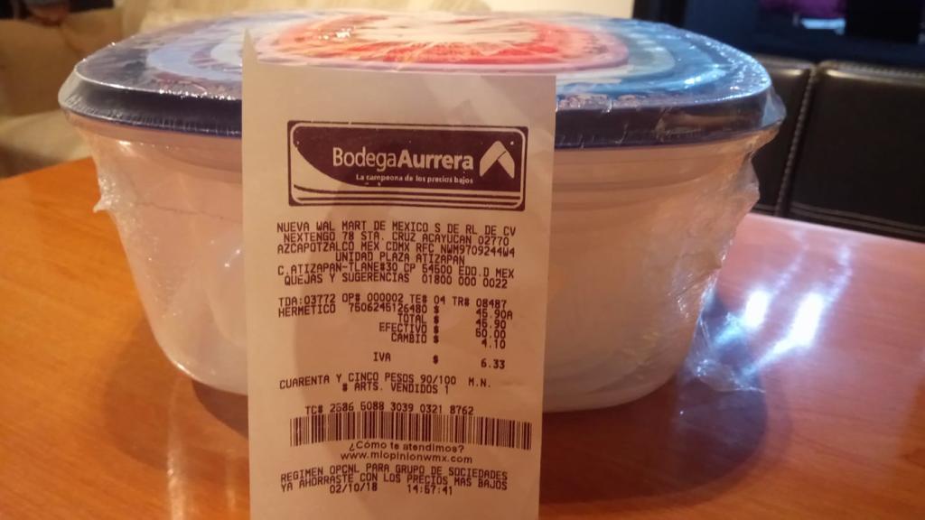 Bodega Aurrera: PAQUETE 7 HERMETICOS $45.90