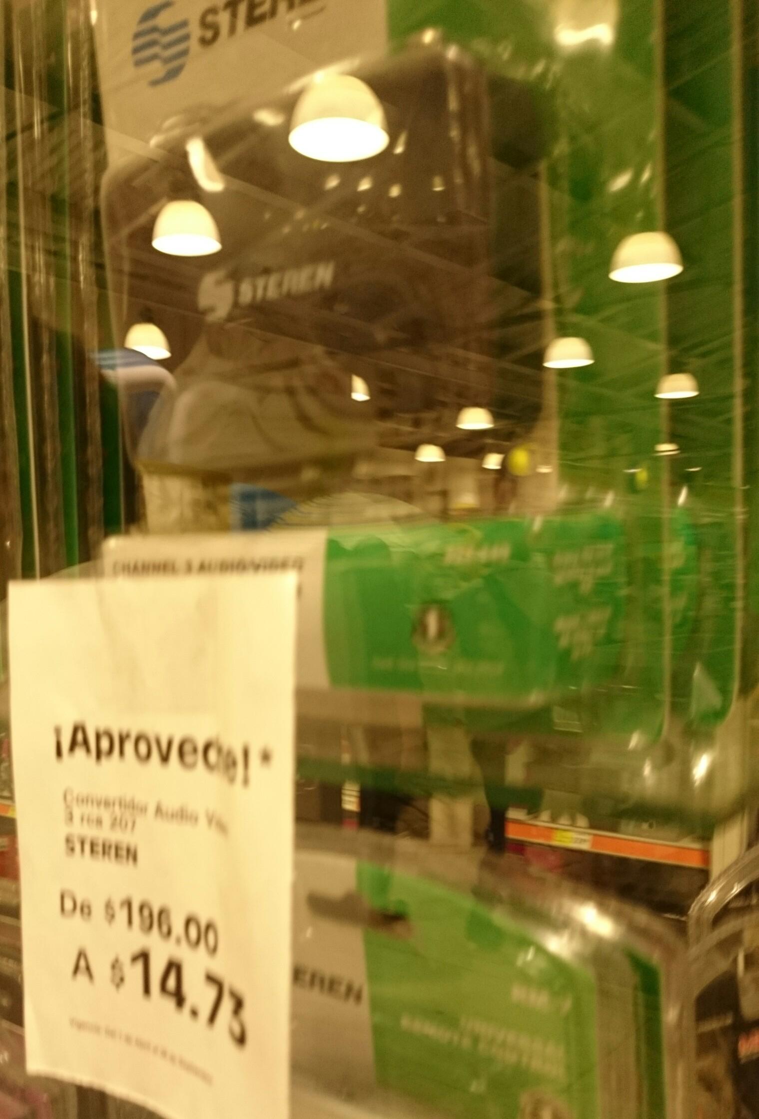 La COMER,  convertidor rca a coaxial super barato