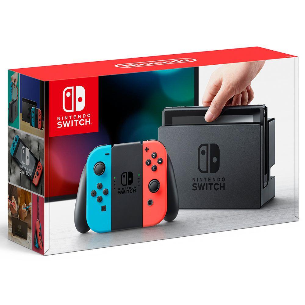 Elektra: Consola Nintendo Switch Neon pagando con Visa