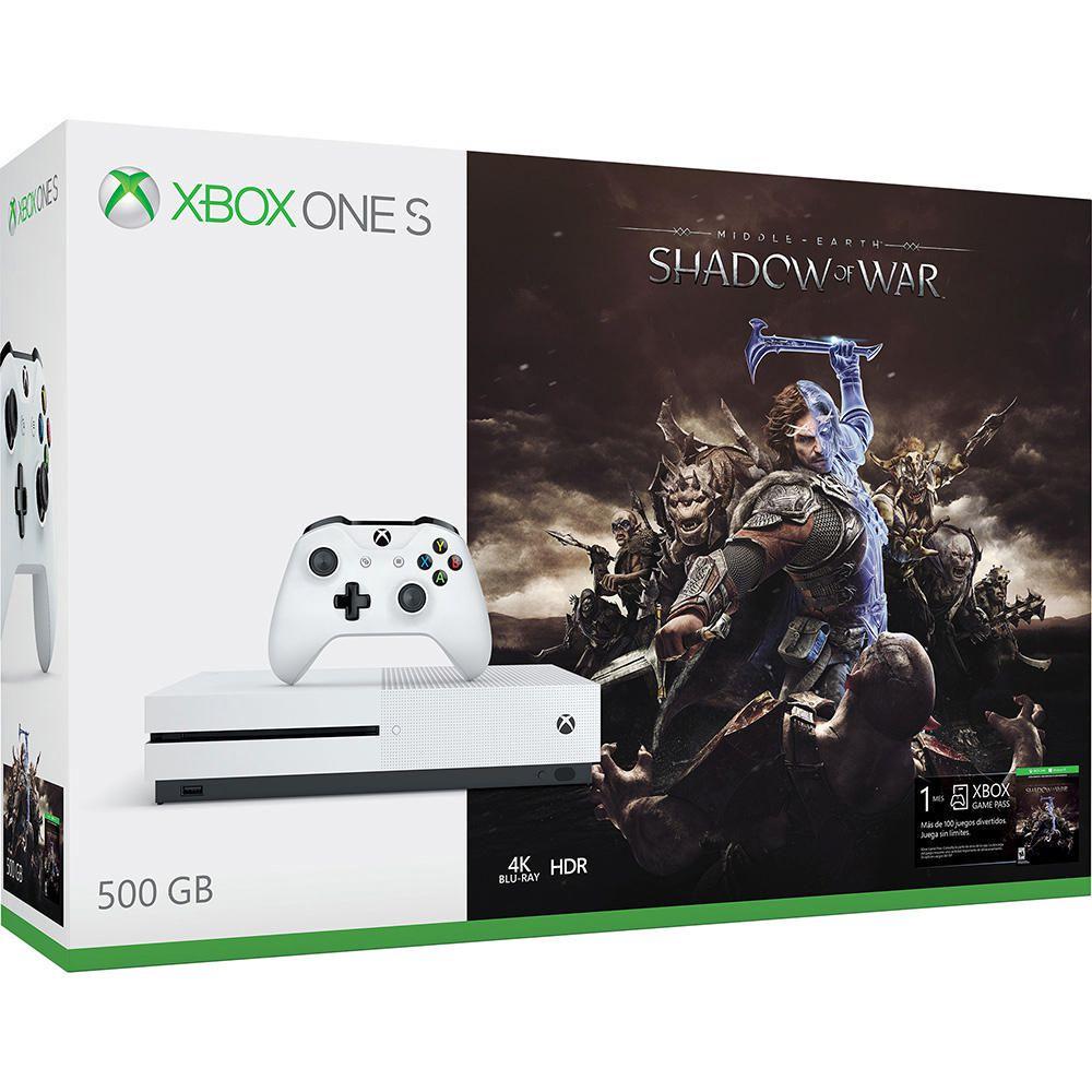 Elektra: Xbox One S 500 GB + Shadow of war pagando con Visa