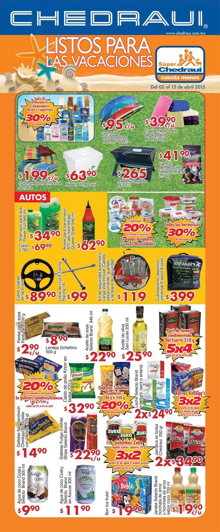 Folleto de ofertas Chedraui del 2 al 15 de abril