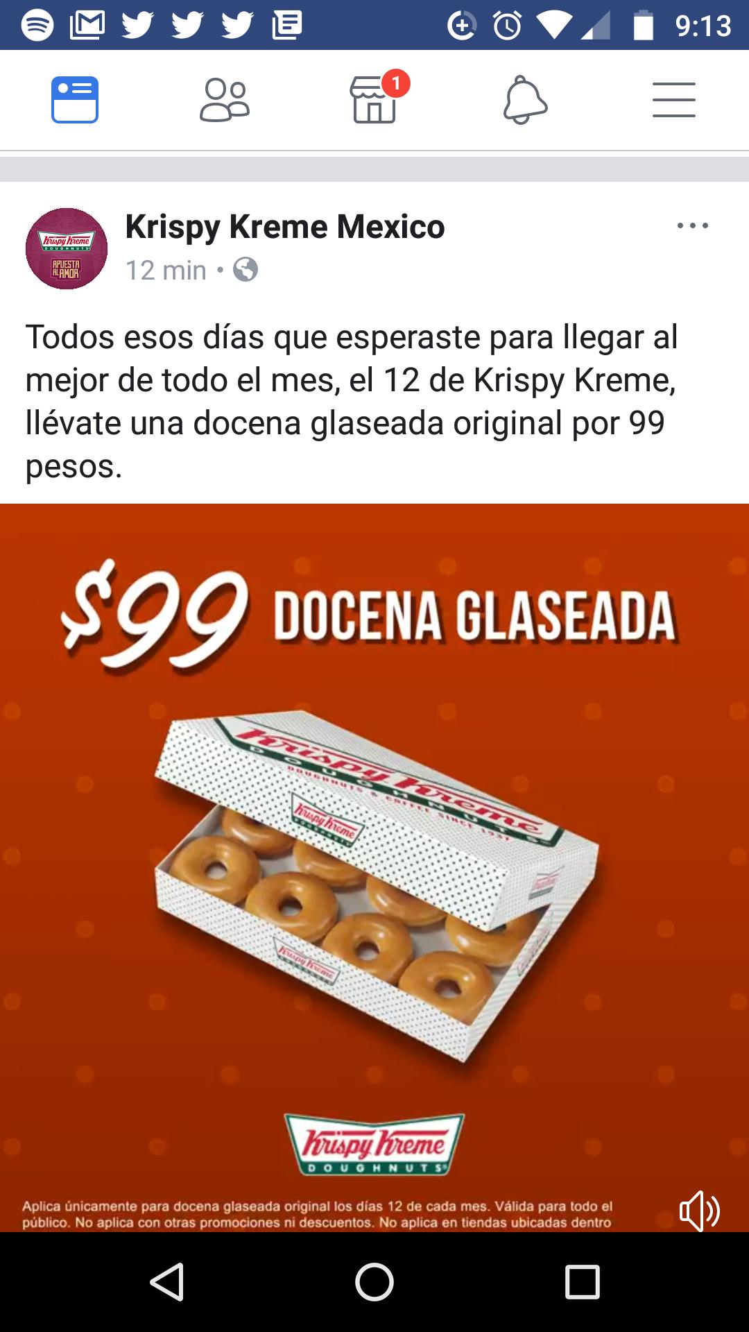 Krispy Kreme: Docena de dona glaseada