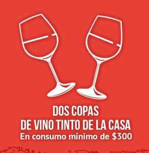 Wow Rewards: Italianni's 2 copas de vino tinto