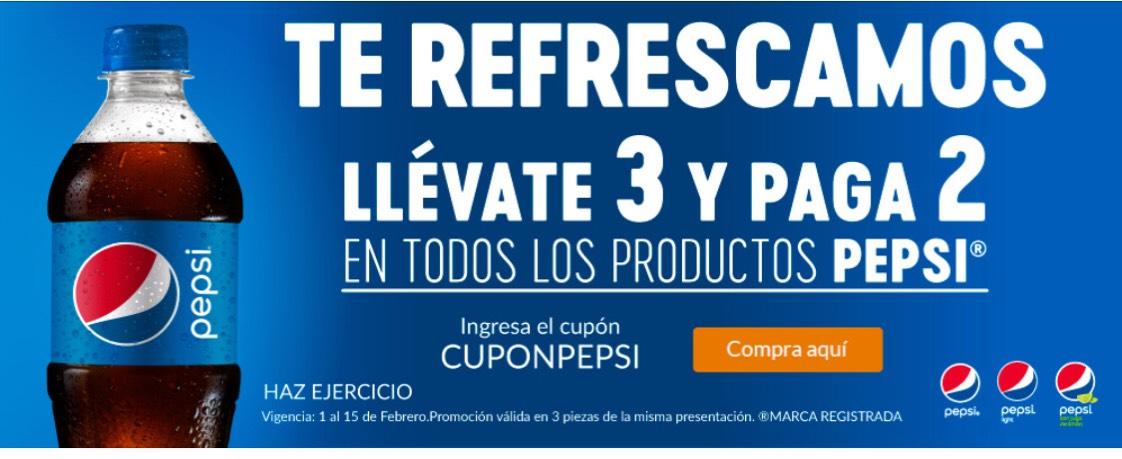 Superama: Llévate 3 y paga 2 en todos los productos pepsi