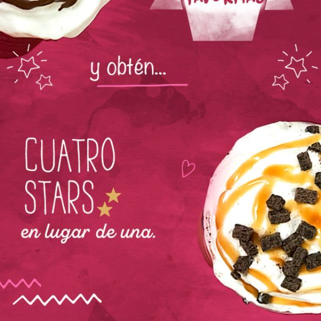 Starbucks Rewards: Compra dos bebidas y te regalan cuatro estrellas en lugar de una